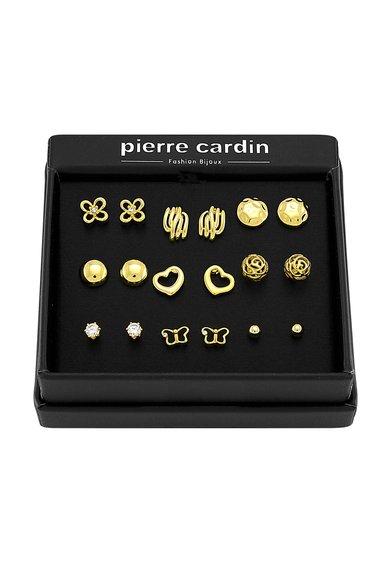 Pierre Cardin Set de cercei aurii – 9 perechi