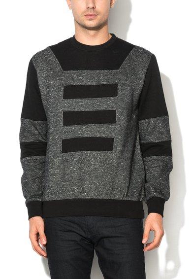 Bluza sport neagra cu segmente contrastante Minto de la Eleven Paris