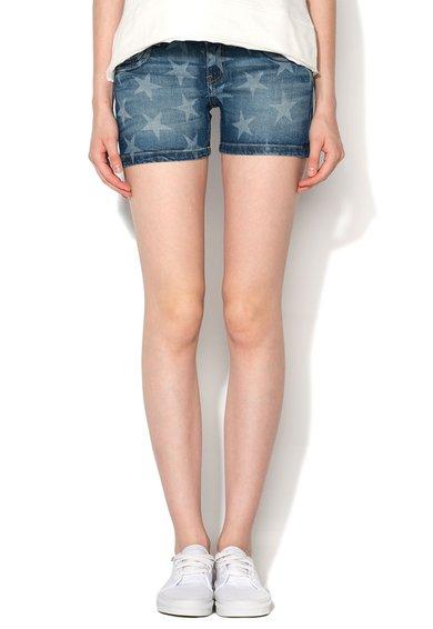 Pantaloni scurti cu stele imprimate din denim Lexi