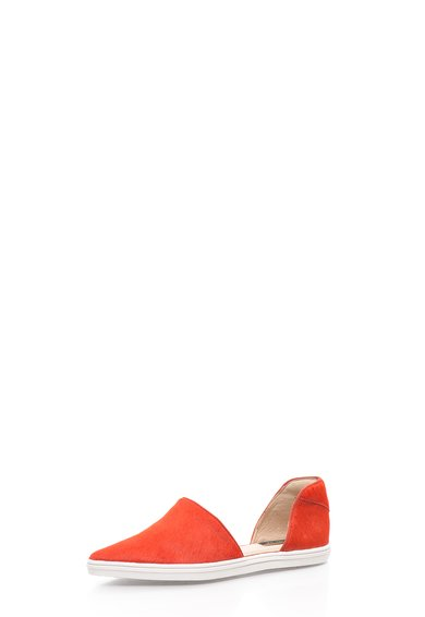 FashionDays.ro: Espadrile corai din piele cu par scurt Camden Rachel Zoe