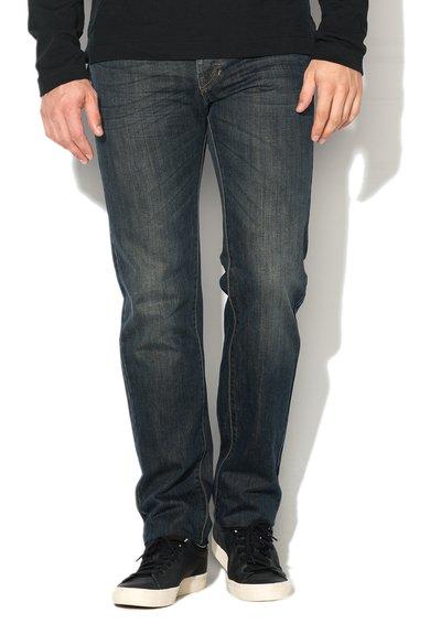 FashionDays.ro: Jeansi albastru inchis decolorat cu croiala dreapta United Colors Of Benetton