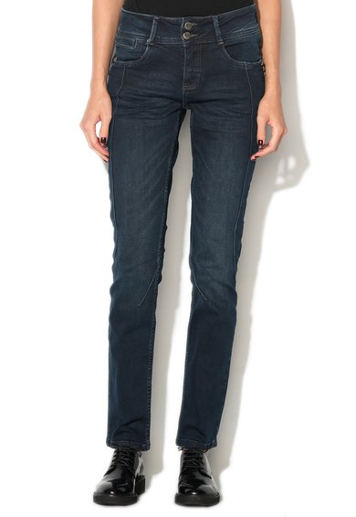 Denim Hunter Jeansi albastru inchis curved fit Ronald