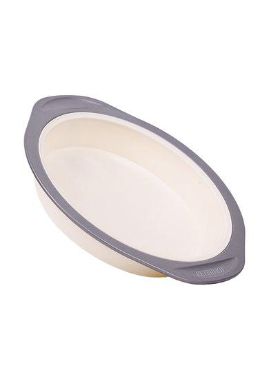 Forma rotunda crem cu gri din silicon pentru copt de la Peterhof