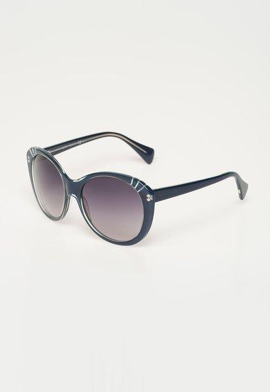 Alexander McQueen Ochelari de soare albastru inchis