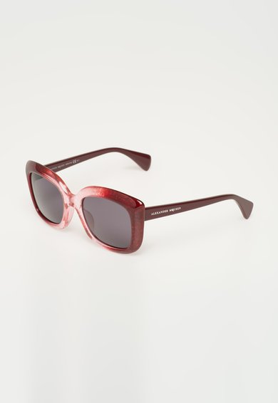 Ochelari de soare rosu Bordeaux in degrade