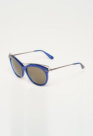 Ochelari de soare albastru inchis transparent Alexander McQueen