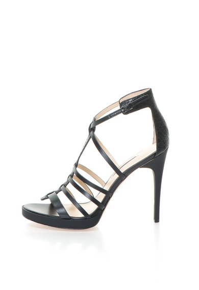 Calvin Klein Sandale negre din piele cu barete Gayle