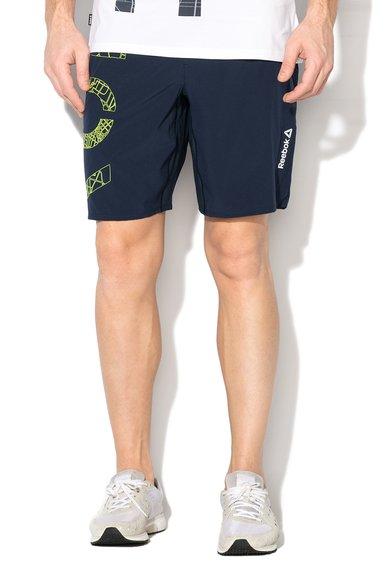 Pantaloni scurti bleumarin pentru alergare de la Reebok