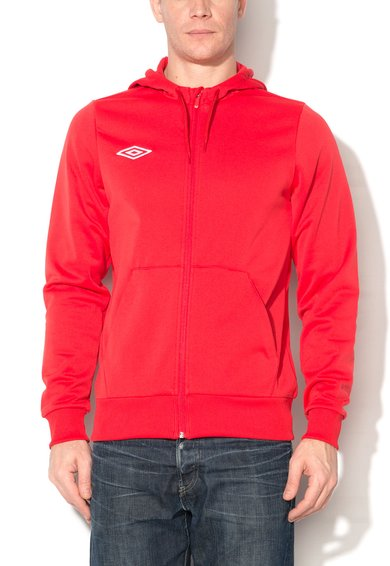 Umbro Hanorac rosu cu fermoar si interior din fleece