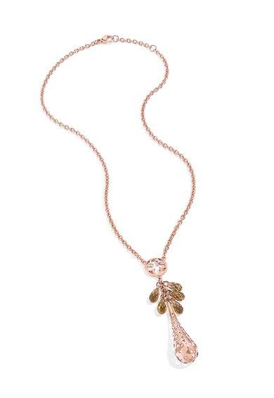 Lant auriu rose cu pandantiv din cristal Ducale de la Morellato