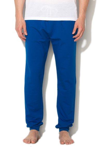 Versace Pantaloni sport de casa albastru cobalt
