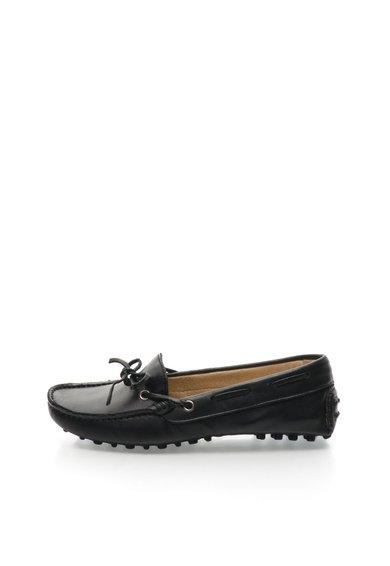 Pantofi loafer negri din piele de la Zee Lane