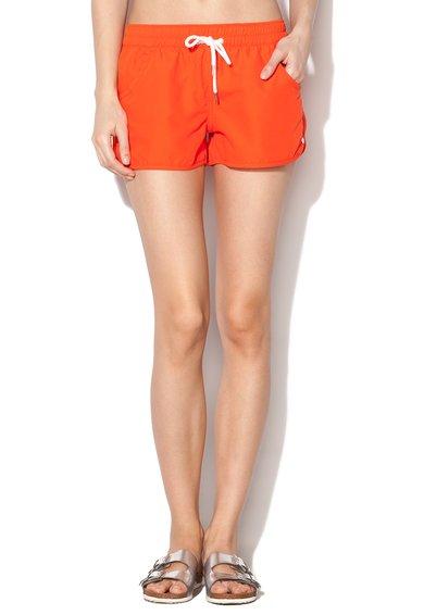Pantaloni scurti de baie oranj aprins cu buzunare Atlantic de la Esprit Bodywear