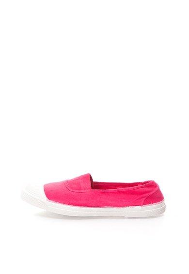 Pantofi slip-on roz aprins din panza