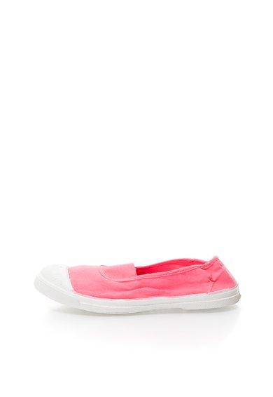 Pantofi slip-on roz grenadine din panza de la Bensimon