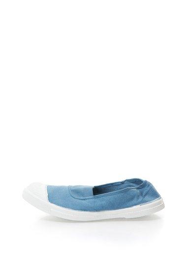 Pantofi slip-on albastru prafuit din panza de la Bensimon