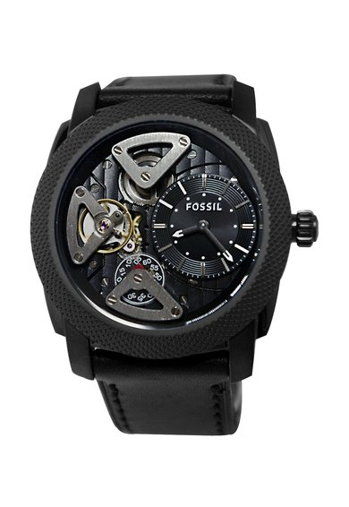 FashionDays.ro: Ceas negru cu mecanism vizibil Machine Fossil