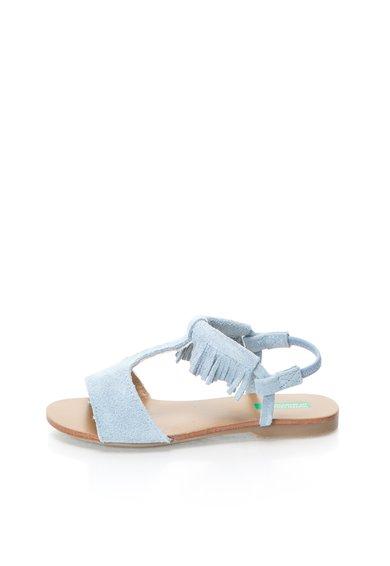 United Colors Of Benetton Sandale albastru prafuit din piele intoarsa cu bareta pe glezna