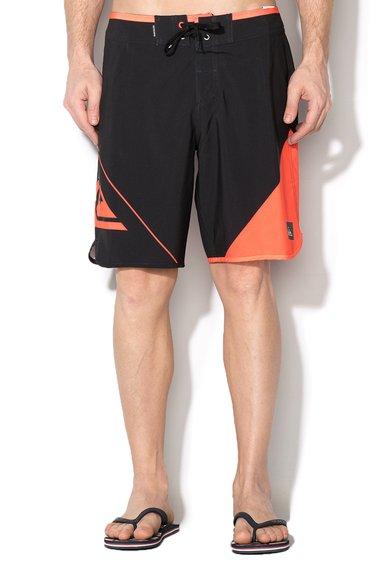 Pantaloni scurti pentru surf negru cu oranj New Wave 19