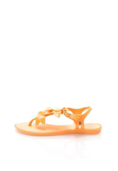 Sandale cauciucate oranj cu catarama Solar