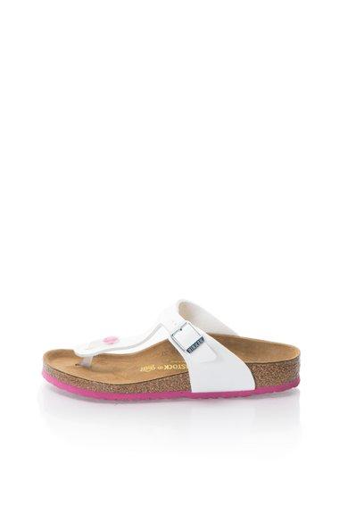Birkenstock Papuci flip-flop albi lacuiti Gizeh