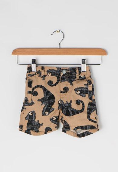 Pantaloni scurti maro nisip cu cameleoni ESPRIT