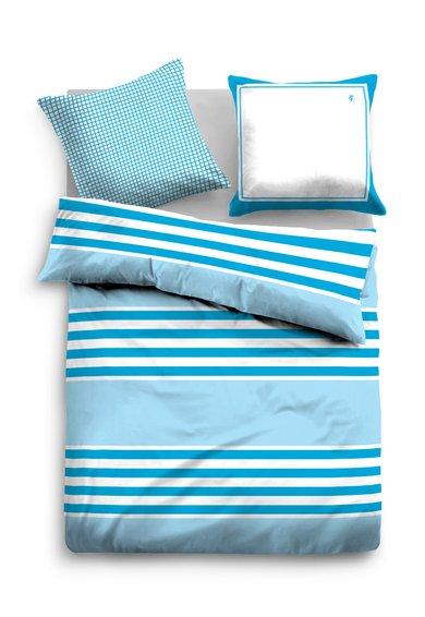 Tom Tailor Set de pat alb cu albastru