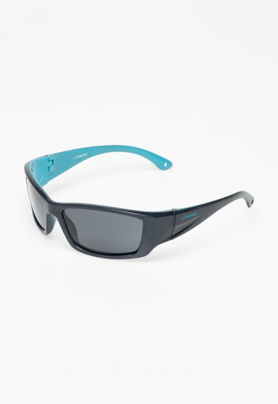 Ochelari de soare in nuante de albastru cu lentile polarizate