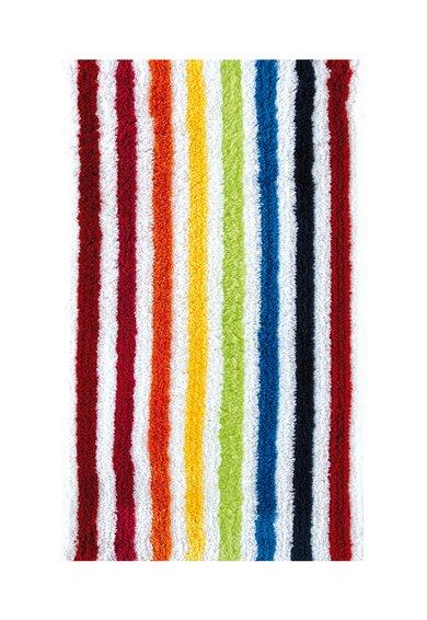 Covoras de baie moale alb cu model multicolor de la Sorema