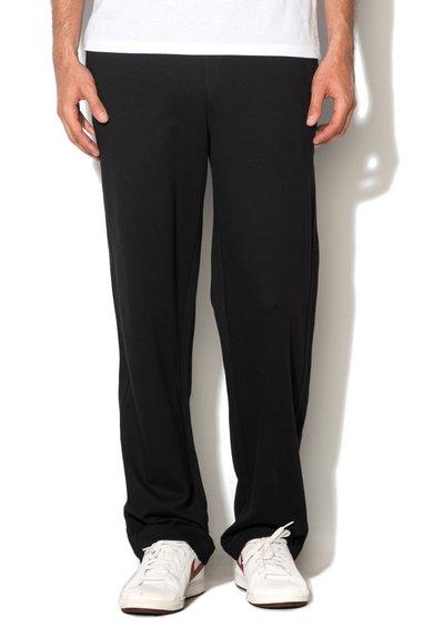Pantaloni sport negri slim fit