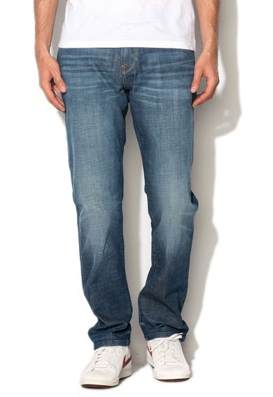 Mexx Jeansi slim fit albastri decolorati
