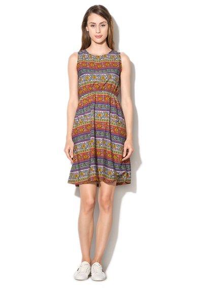 Rochie multicolora cu imprimeu