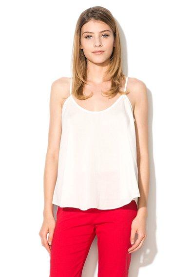 FashionDays.ro: Top alb murdar cu croiala ampla United Colors Of Benetton