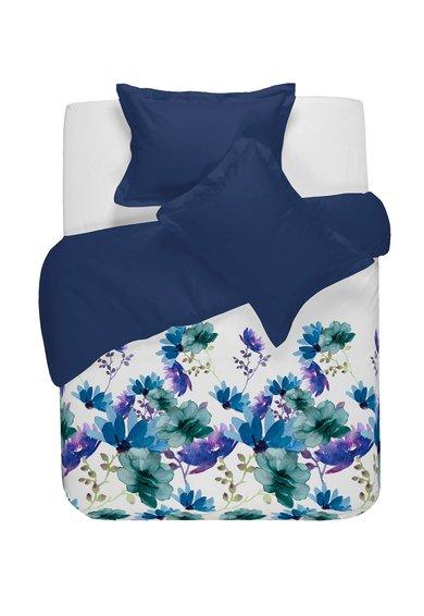 NAF NAF linge de maison Set de pat alb cu bleumarin cu imprimeu floral Petal