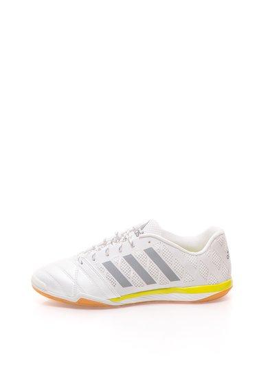 adidas Pantofi sport pentru fotbal alb perlat cu galben Topsala