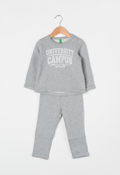United Colors Of Benetton Set gri melange de bluza sport si pantaloni sport