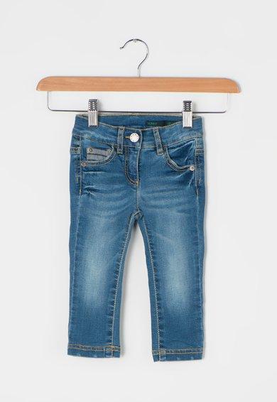 FashionDays.ro: Jeansi skinny albastri cu talie ajustabila United Colors Of Benetton