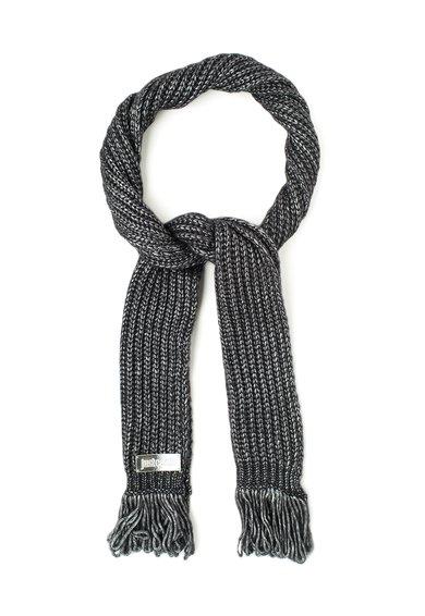 FashionDays.ro: Fular negru din amestec de lana cu pelicula argintie Just Cavalli