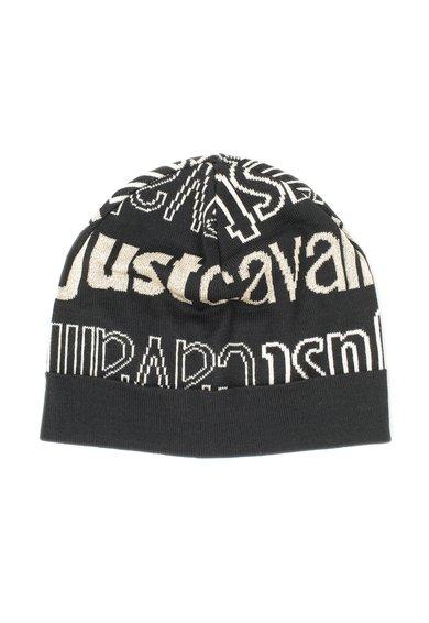 Caciula neagra cu model logo de la Just Cavalli