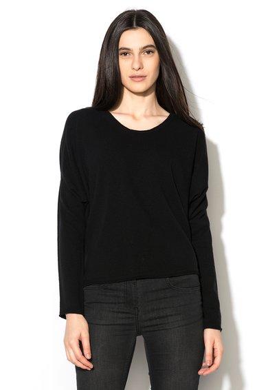 Stefanel Pulover negru de lana virgina