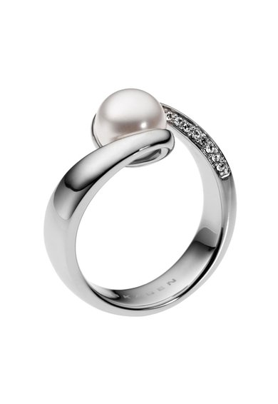 Skagen Inerl argintiu cu perla si zirconia