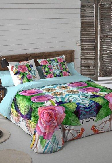 Set de pat multicolor cu imprimeu floral Eleonor