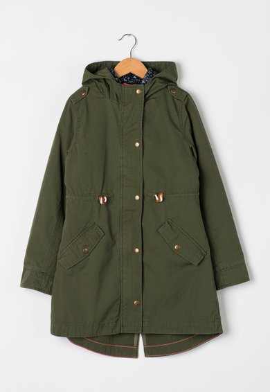 Jacheta parka verde militar cu negru cu aspect 2in1