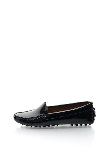 Pantofi loafer bleumarin inchis din piele lacuita Daniellee de la Versace 19.69 Abbigliamento Sportivo