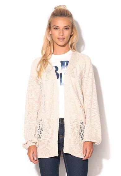 FashionDays.ro: Cardigan bej melange lung Roxy