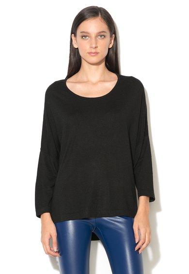 Bluza neagra tricotata fin de la United Colors Of Benetton
