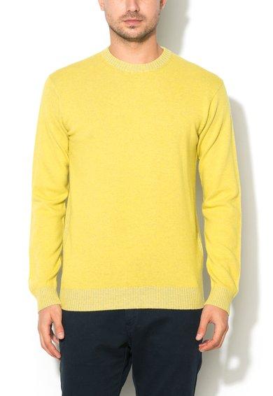 Pulover reversibil galben citrine de la United Colors Of Benetton