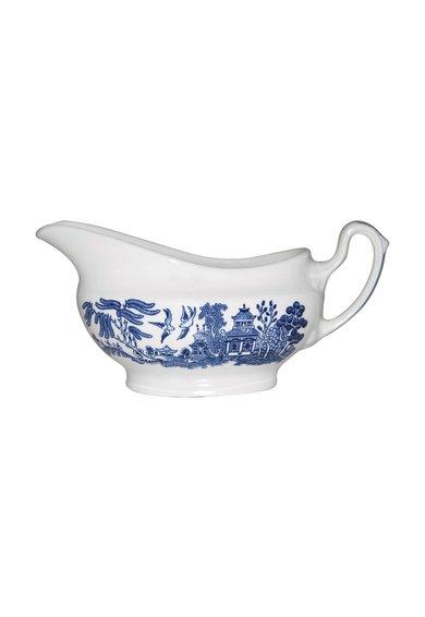 Bol ceramic bleumarin cu alb pentru sos