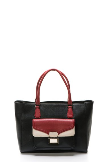 Geanta negru cu rosu de piele sintetica de la Love Moschino