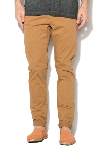 Pantaloni chino maro camel Taylor de la Franklin  Marshall